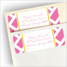 Pink Chippendale Address Labels