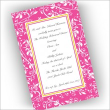 Pink Damask Invitations
