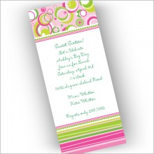 Pink Stripe at a Slant Invitations