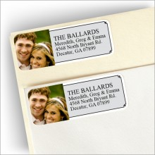Portrait Photo Address Labels