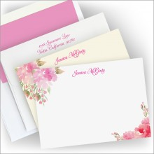 Pretty in Pink Correspondence Cards