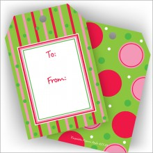 Red, Green & Pink Jumbo Gift Tags