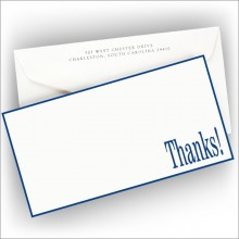 Slender Hand Bordered Correspondence Cards - Thanks!