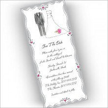 Slim Bride and Groom Invitations
