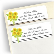 Sunflowers Address Labels
