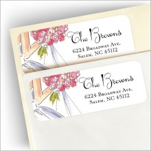 Sweet Bride Address Labels