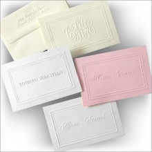 The Ultimate Embossed Double Border Notes