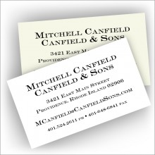 Thermograved Business Cards