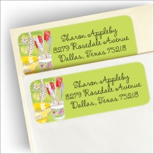Time for Shower Return Address Labels
