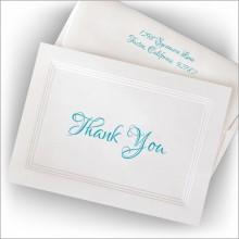 Versatile Triple Beveled Border Thank You Notes