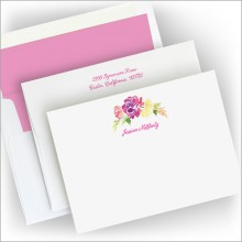 Watercolor Floral Correspondence Cards