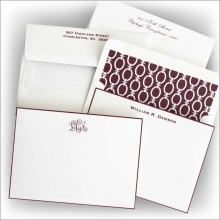 Wine Hand Bordered Correspondence Cards