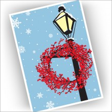 Winterberry Wreath Christmas Cards