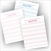 Your Child's Fun Penmanship Stationery