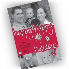 Happy Happy Holidays Photo Card
