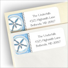 Blue Sand Dollars Address Labels