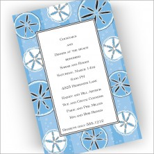 Blue Sand Dollars Invitations