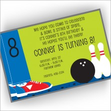 Bowling Shoes Invitations