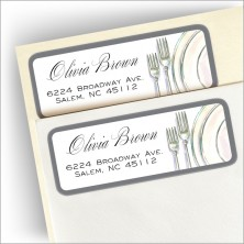 Classic Placesetting Address Labels