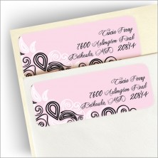 Freeform Pink Return Address Labels