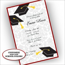 Grad Corners Invitations