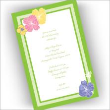 Hibiscus Garden Invitations