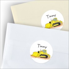Ramsey's Tractor Round Stickers