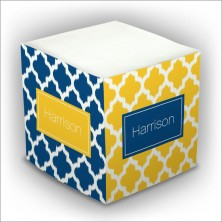 Personalized Self Stick Memo Cubes - Style 39