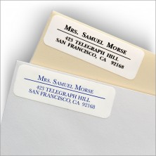 Classic White Address Labels - Style 2