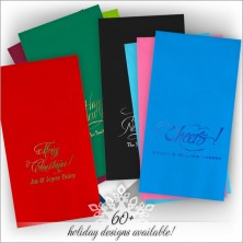 Holiday DYO Color Guest Towel Napkins - Foil Stamped