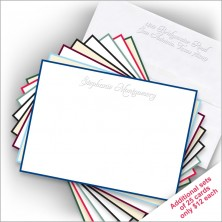 Hand Bordered Embossed Correspondence Cards