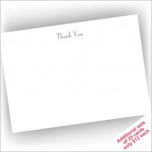 Diplomat Correspondence Cards - Thank You