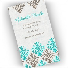 Diamond Damask Cards
