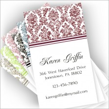 Distressed Damask Card