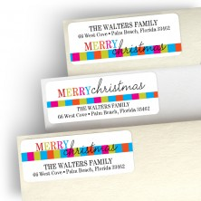 Playful Christmas Address Label