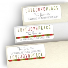 Love, Joy & Peace Address Label