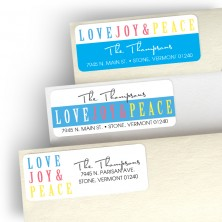 Peace, Love Address Label