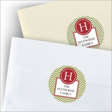 Green Initial Gift Seals