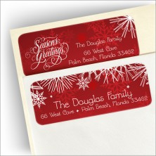 Snowflake Greetings Address Label
