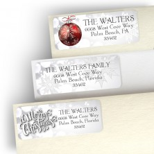 Glistening Christmas Address Label