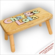 Double Name Puzzle Stool