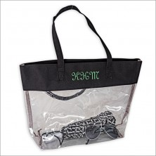 Embroidered Clear Tote
