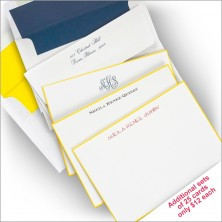 Yellow Hand Bordered Correspondence Cards