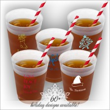 Holiday DYO 10 oz. Frosted Tumbler - with Design
