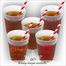 Holiday DYO 16 oz. Frosted Tumbler - with Design