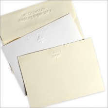 DYO Embossed Correspondence Cards - with Design