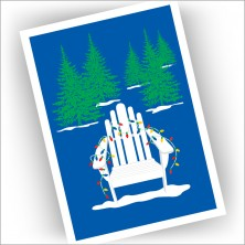 Adirondack Chair with Lights Christmas Cards