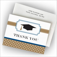Bookplate Grad Thank You Notes