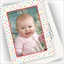 Bright Dots Photo Cards - Vertical