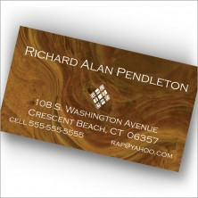 Brown Marble Calling Cards